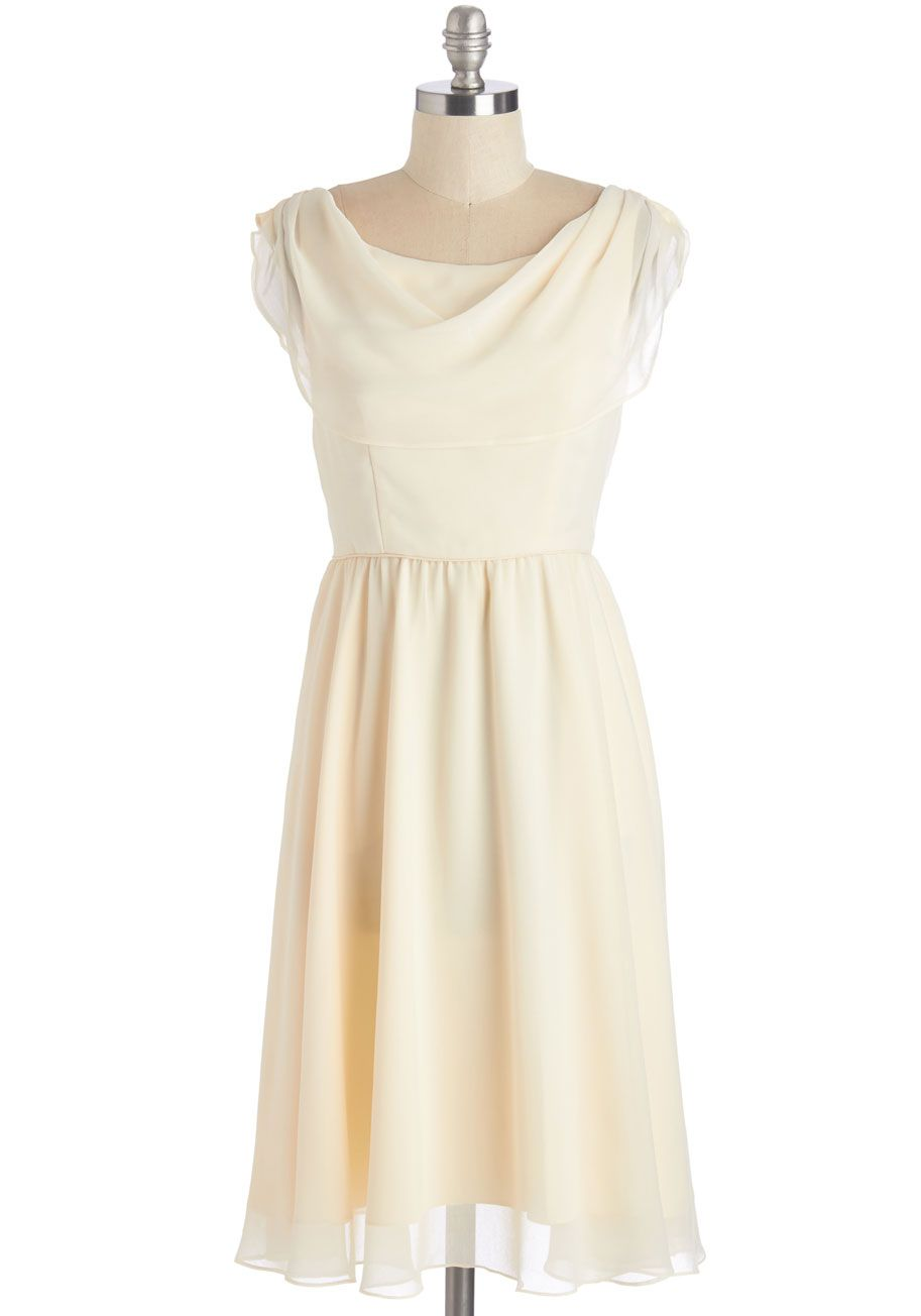 Pas de Bourrée a Day Dress in Ivory | Spring \'Dress\' Code | Pinterest