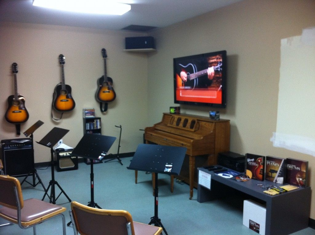 Interior: Music Room Decorating Ideas For Playing Guitar, music .