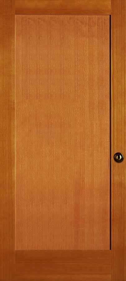 Interior Doug Fir One Panel Shaker Flat Panel Shaker Sticking Paneling Interior Exterior Doors Contemporary Doors