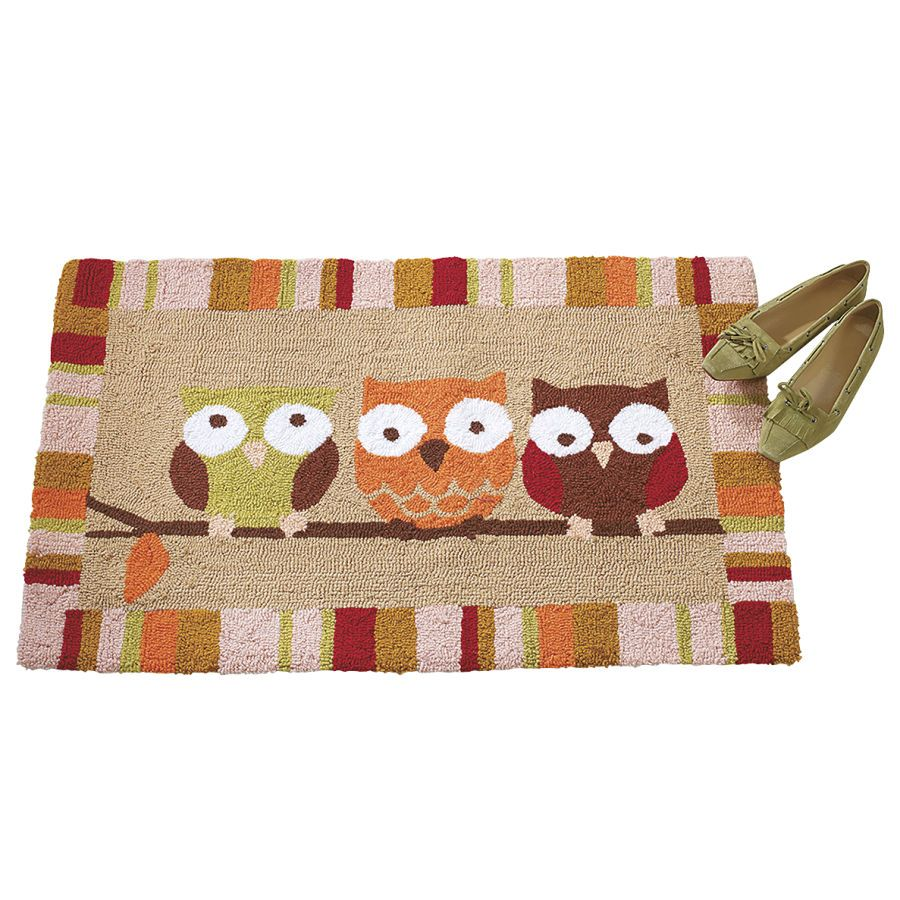 Owl Kitchen Rugs Stove With Griddle The Welcome Committee Owls Rug Furniture Home Decor And Furnishings Accessories Gifts Expressions