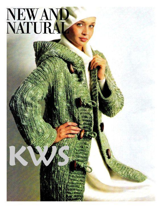 Crochet Pattern, Hooded Coat PDF Pattern, Crochet Jacket Pattern ...