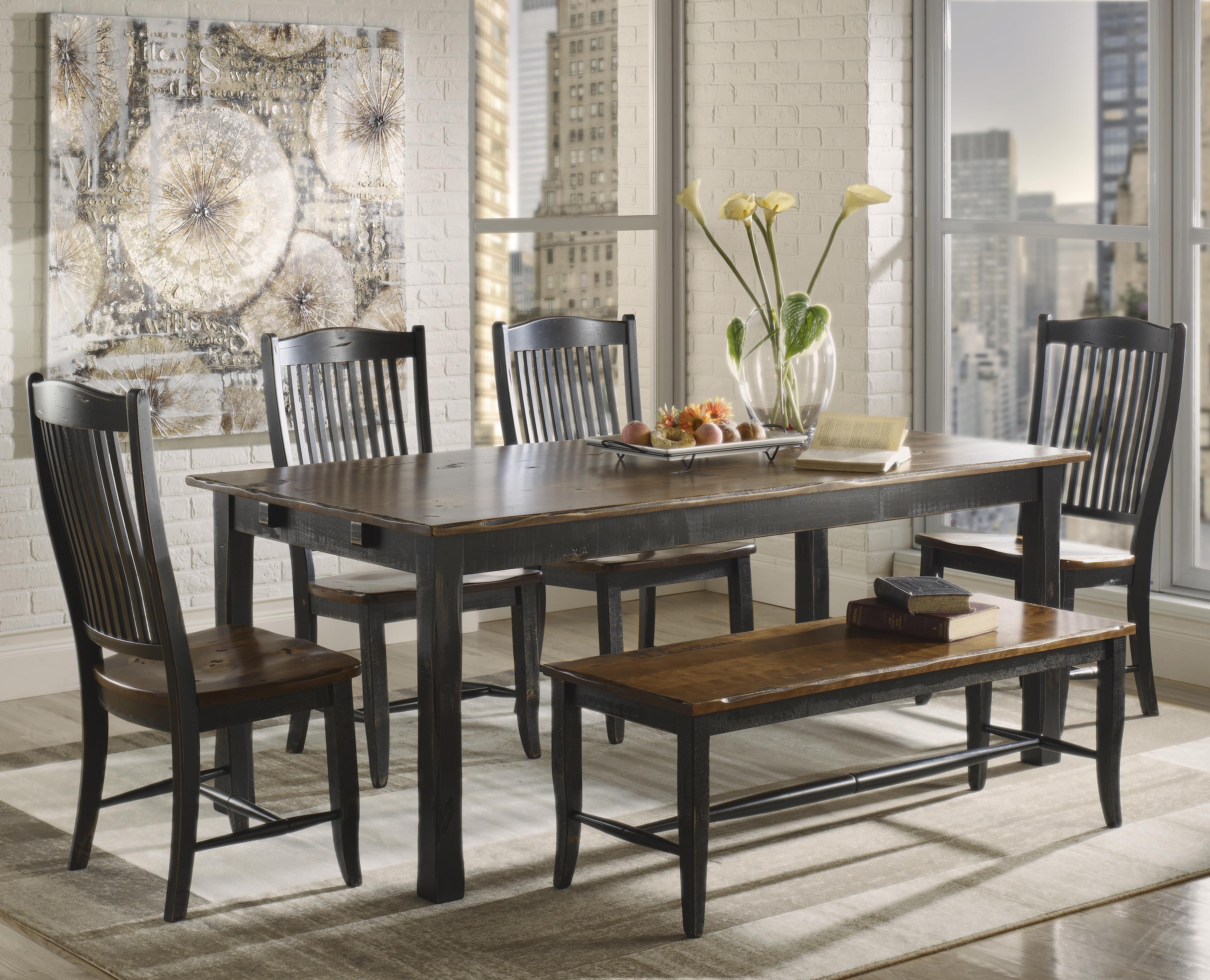 Champlain Custom Dining Customizable Rectangular Table Set With