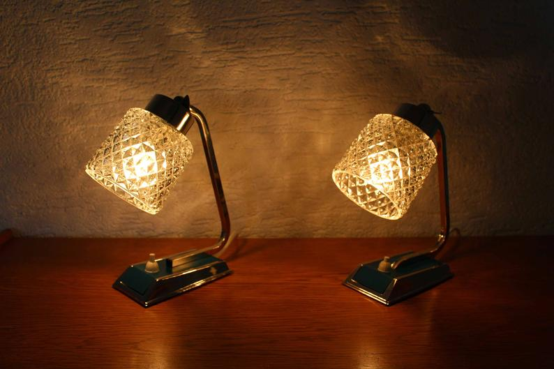Beautiful Duo Bedside Lamp Art Deco Style Of The 30 40 Years Simple Pendant Lamp Bedside Lamp Lamp