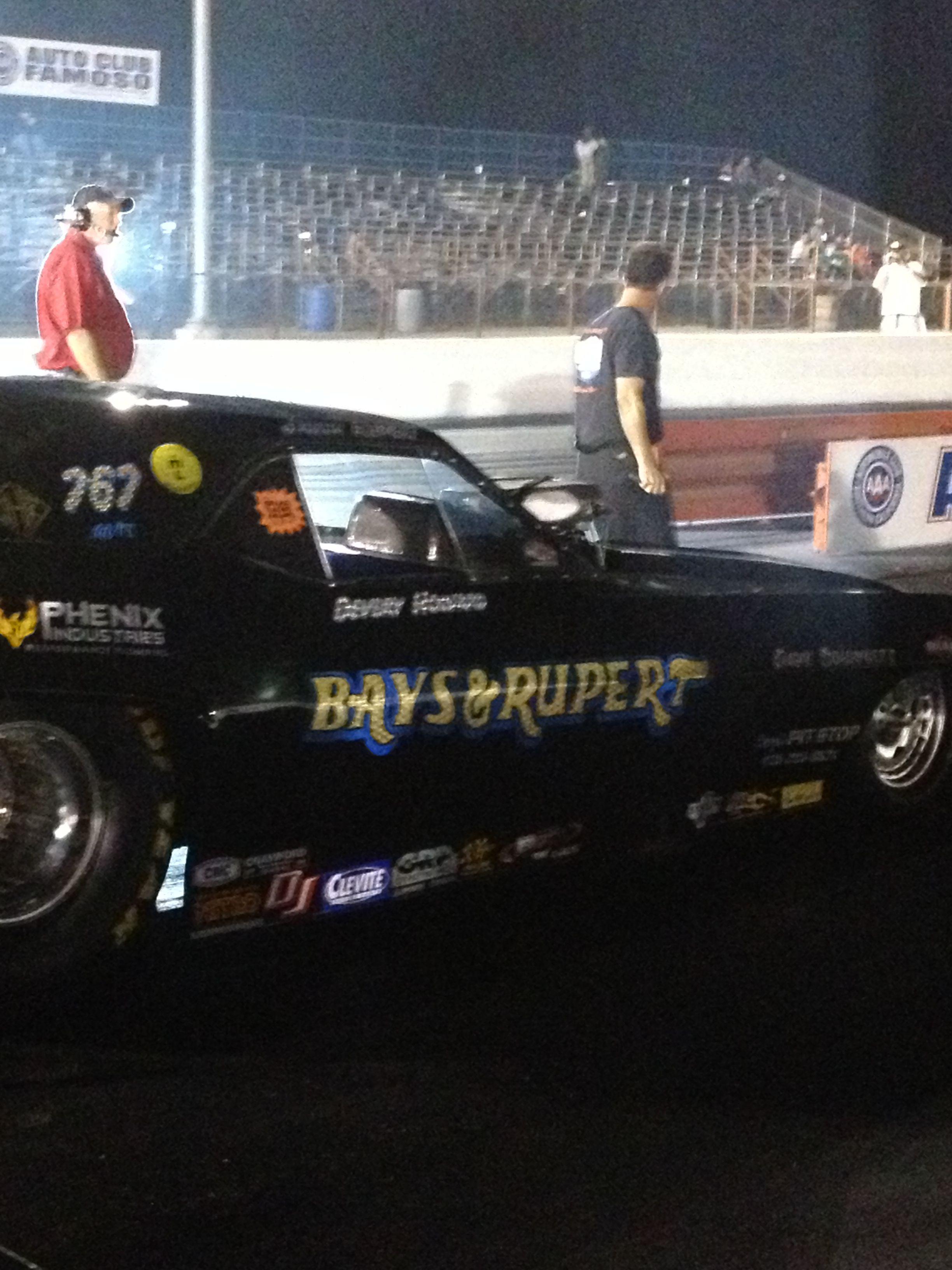 Jason Rupert in the Black Plague Nitro Funny Car @ the 2013 Famoso Nitro Night of Fire #1