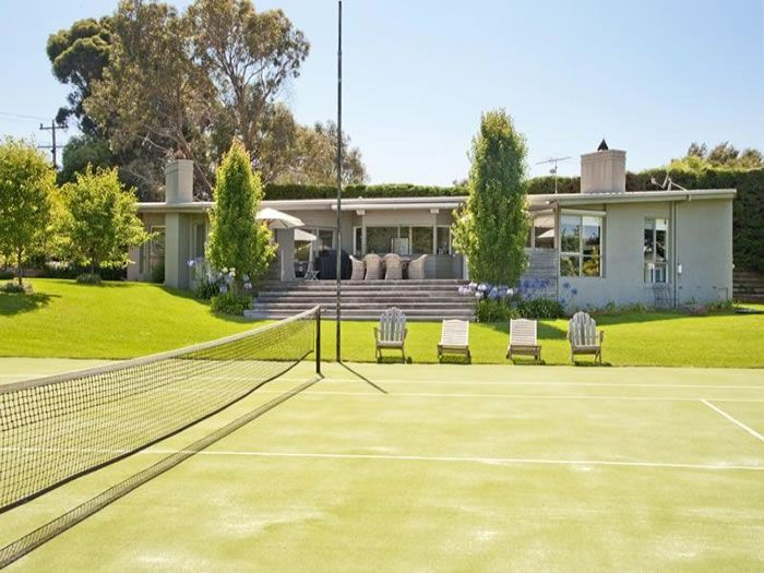 Luxury Beach House With Private Grass Tennis Court Tennis Courts