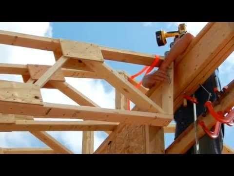 One Man Roof Truss Raising Roof Trusses Roof Truss Design Framing Construction