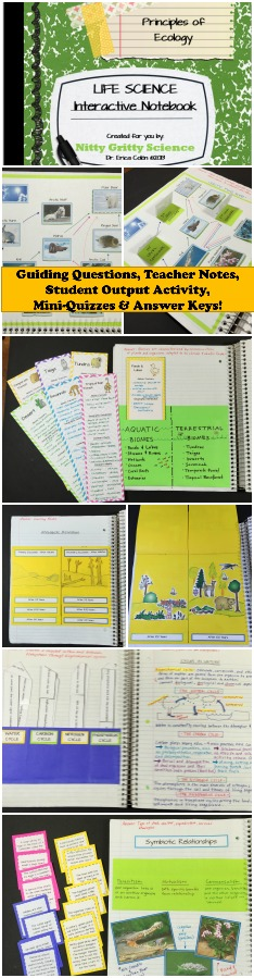 Principles of Ecology Life Science Interactive Notebook ...