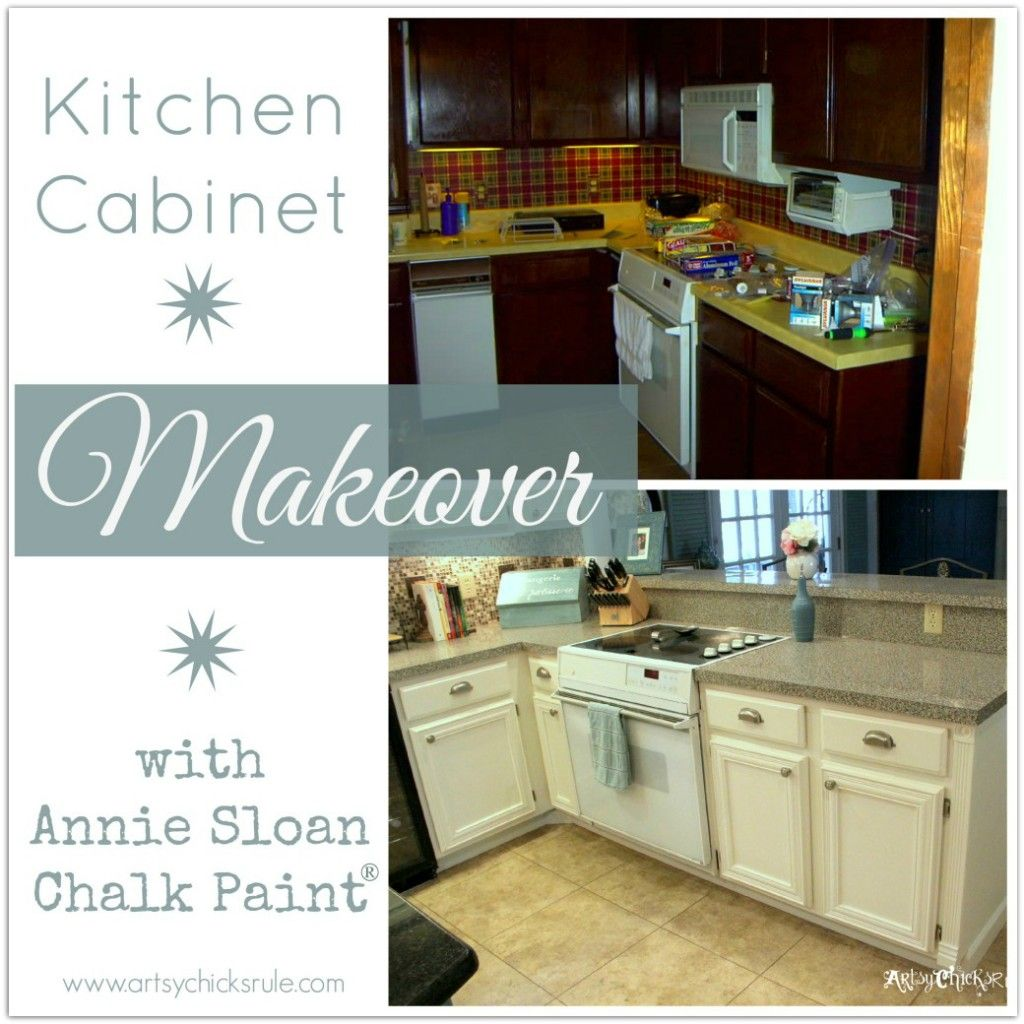 Kitchen cabinet makeover annie sloan chalk paint annie for What is the best way to paint kitchen cabinets white
