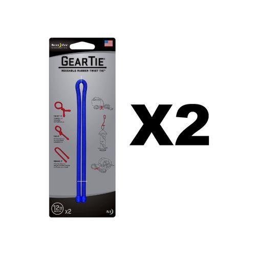 "Nite Ize Gear Tie 12"""" - Blue (2-Pack)"