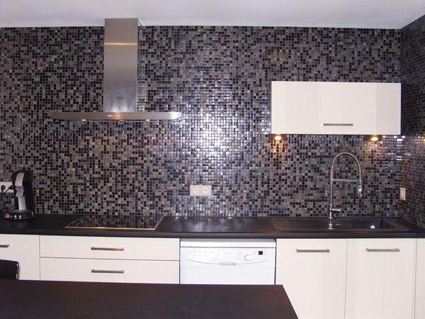 Mosaique credence cuisine en pates de verre loft ideas - Mosaique cuisine credence ...
