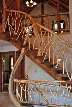 Best Stairs That Use Bent Wood For A Decorative Effect 400 x 300