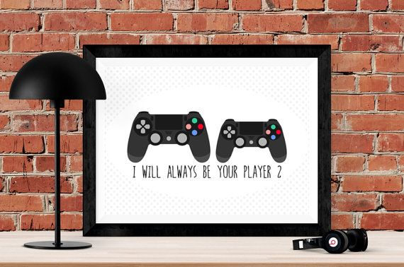 Gaming Gift Gamer Girl Video Game Art By KissesAndWishesLtd