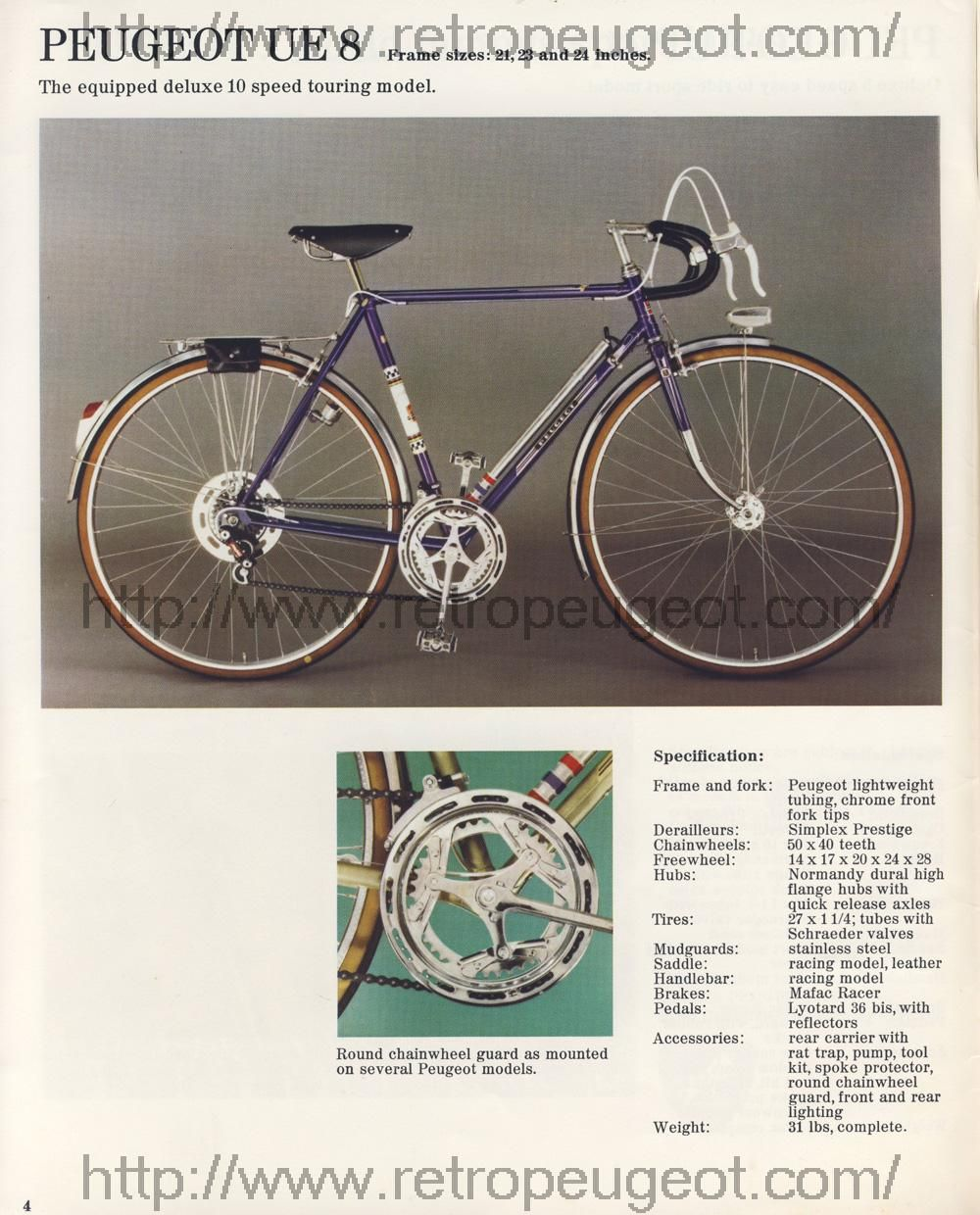 1974 brochure- usa peugeot ue-8 | bikes | check email, check your