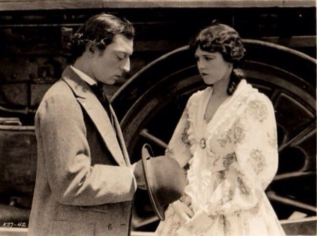 """""""The General"""": Buster Keaton and Marion Mack"""