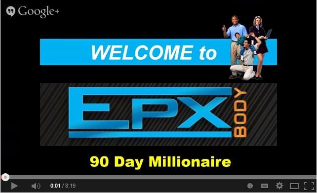 EPX 90 Day Millionaire Action Plan Presentation #business My EPX - business action plan