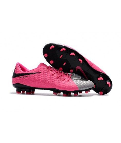 best sneakers 6b394 c3f1f Nike Hypervenom Phelon III FG PEVNÝ POVRCH Růžový Stříbro Černá Muži Kopačky