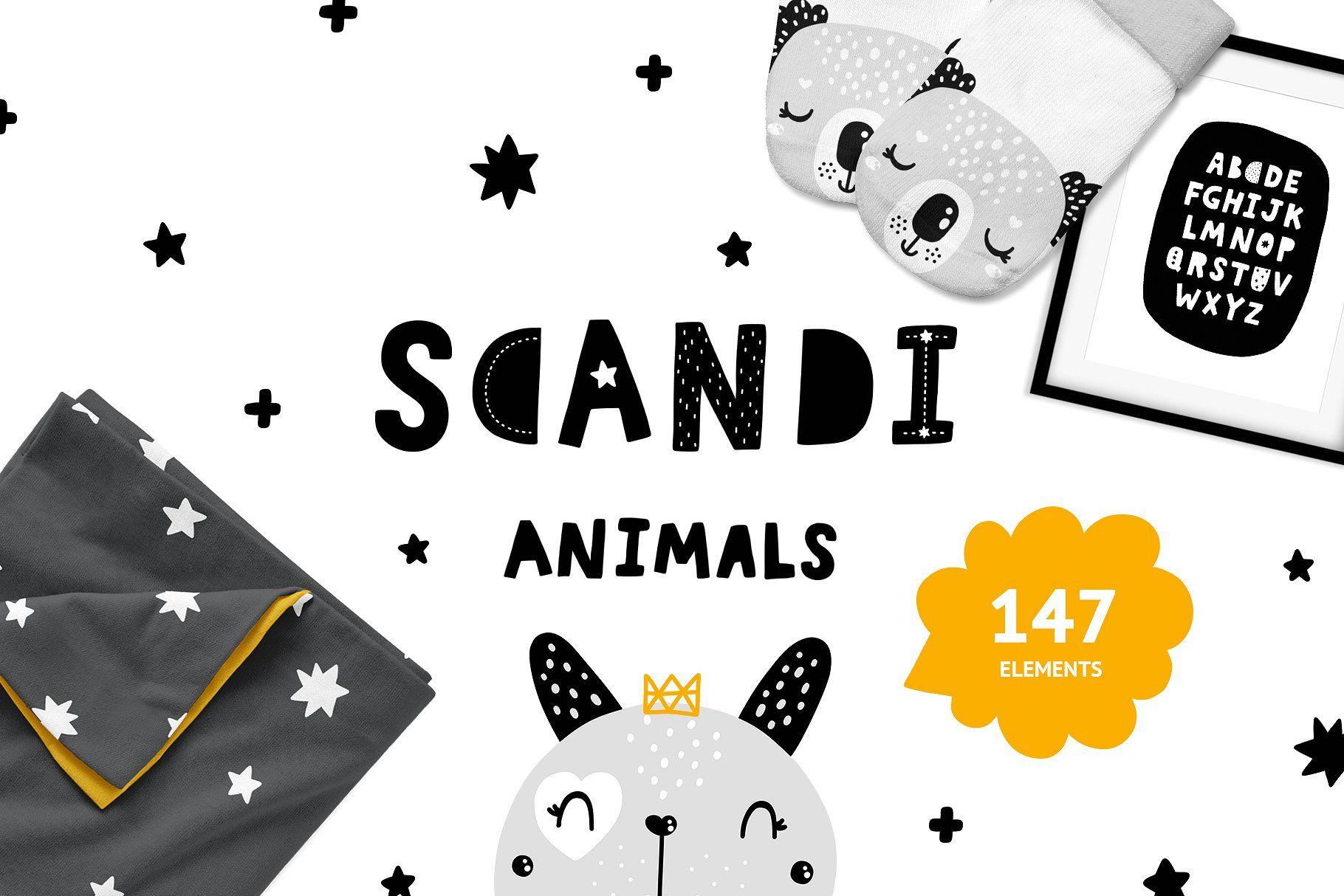 Scandinavian Animals Nursery Print Nursery Animal Prints Scandinavian Nursery Print Nursery Prints