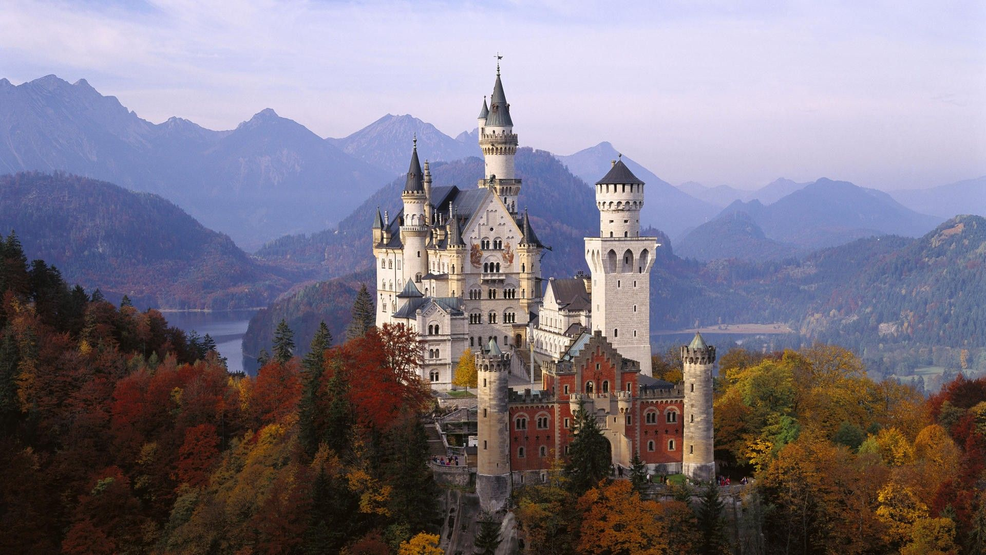 Autumn Neuschwanstein Castle Germany Wallpapers Hd Wallpapers