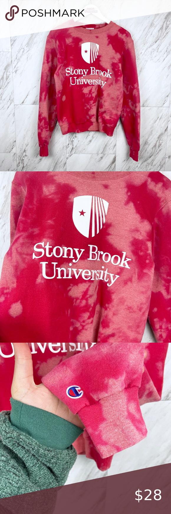 Champion Stony Brook University Sweatshirt Sweatshirts University Sweatshirts Crew Neck Sweatshirt [ 1740 x 580 Pixel ]