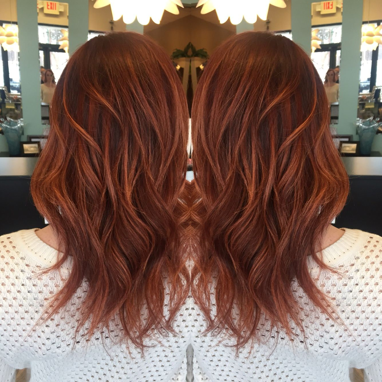 Red base with rich copper balayage highlights love my hair red base with rich copper balayage highlights love my hair hair by andrea pmusecretfo Image collections