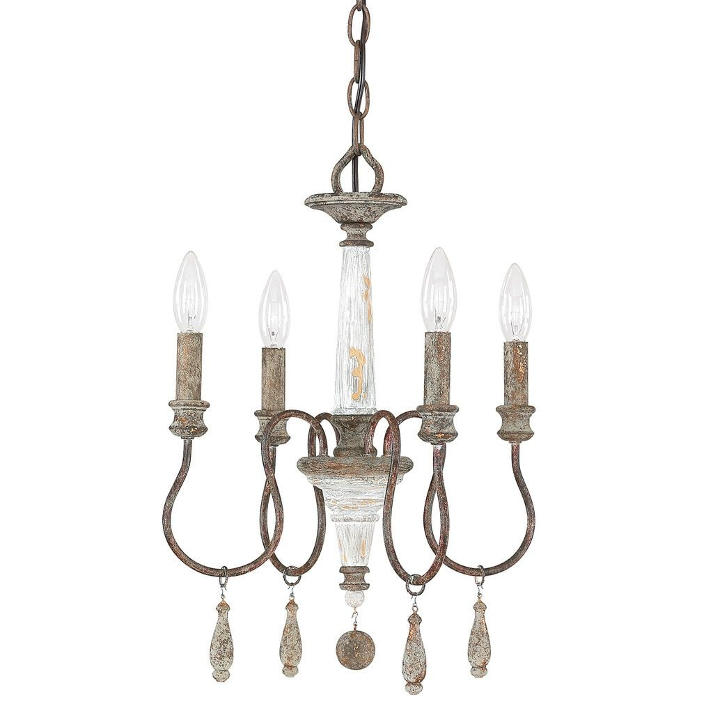 Results for shabby chic chandelier free shipping on orders over hang this weathered mini chandelier over the breakfast table to illuminate small meals in elegant style or add it to your office as a touch of arubaitofo Choice Image