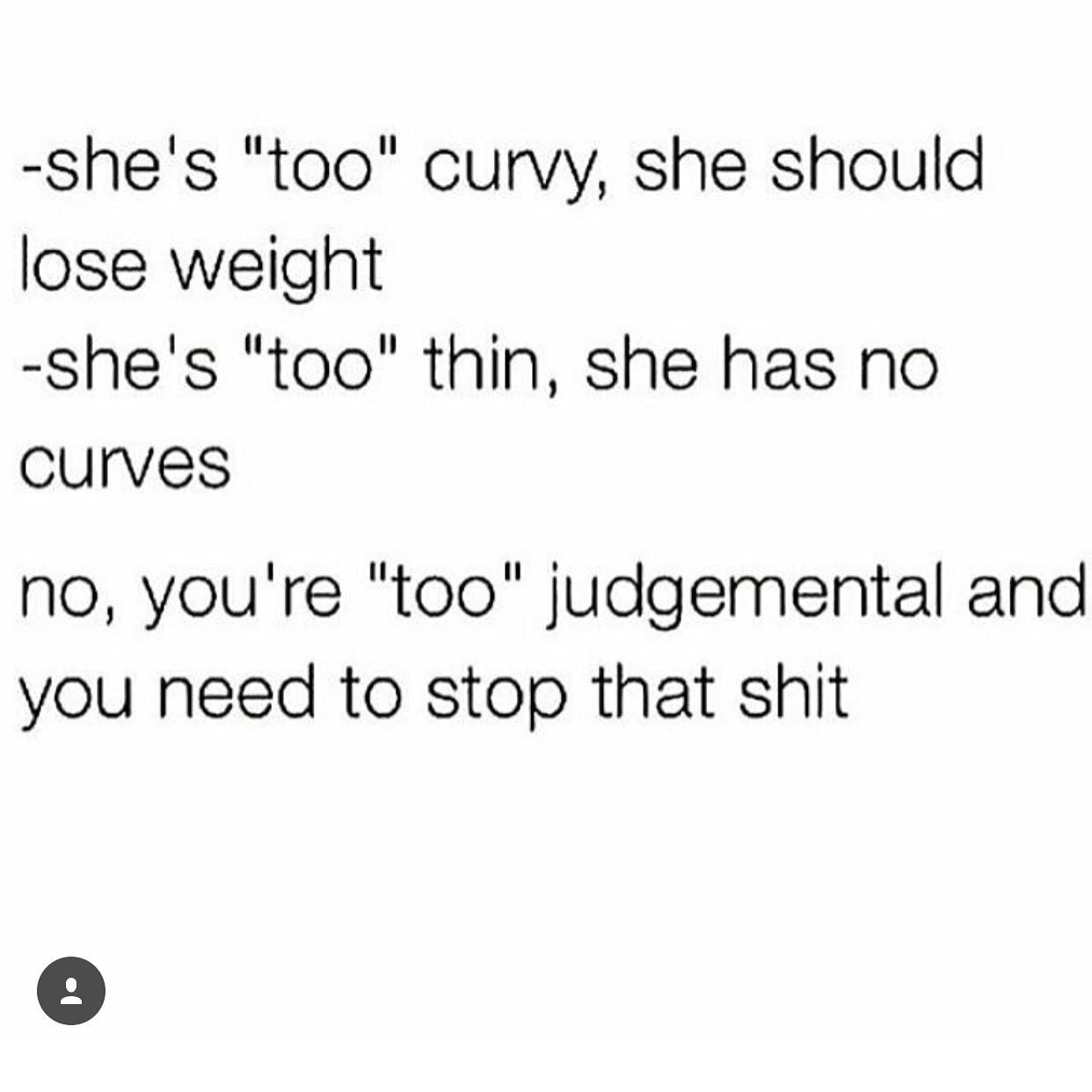 quit body shaming