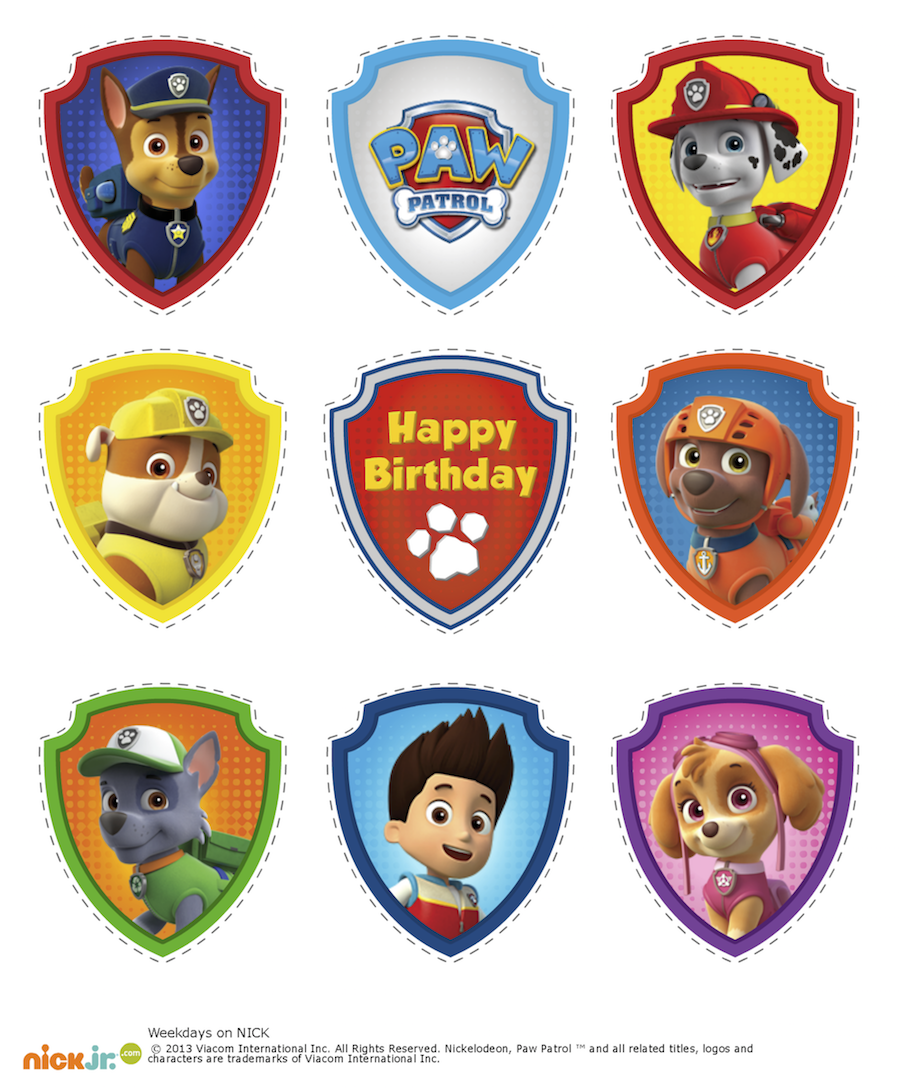 picture regarding Printable Paw Patrol known as PAW Patrol Cupcake Toppers paw Celebration within 2019 Paw patrol