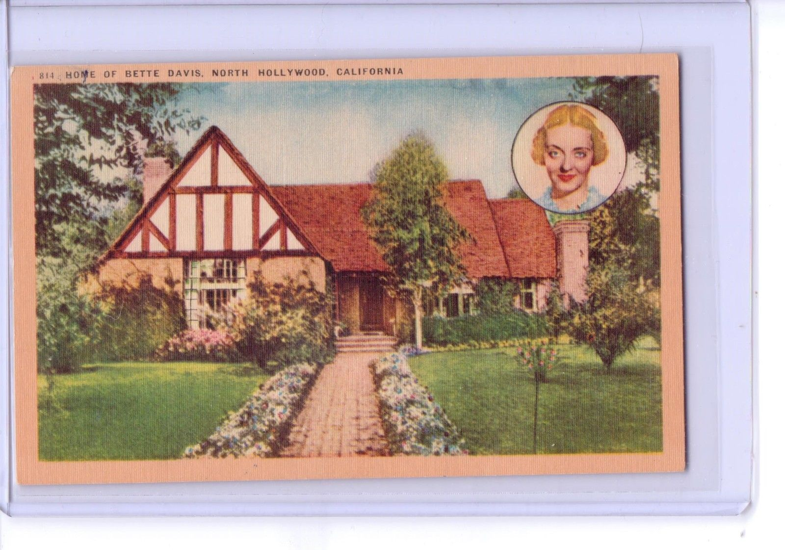 Vintage 814 Home of Bette Davis Celebrity North Hollywood