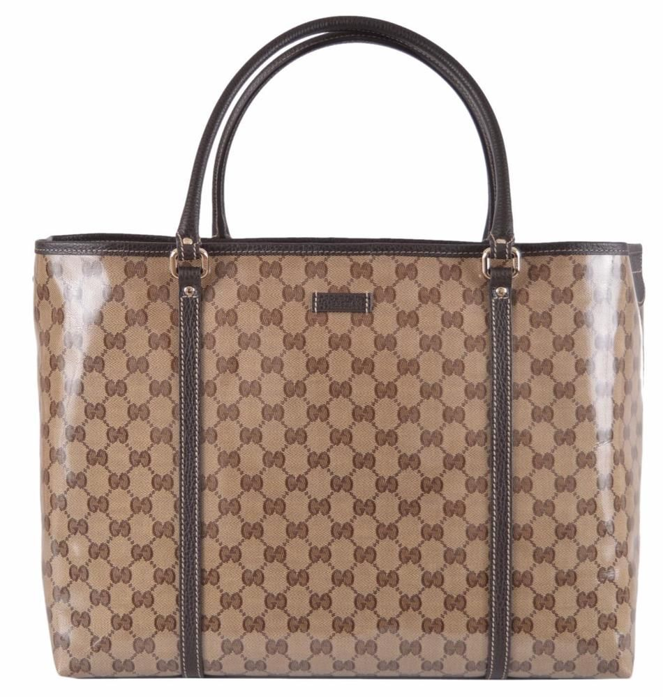 1d7ecf0208f5 NEW Gucci 265696 Large Crystal Coated Canvas Guccissima GG Joy Purse Bag  Tote…