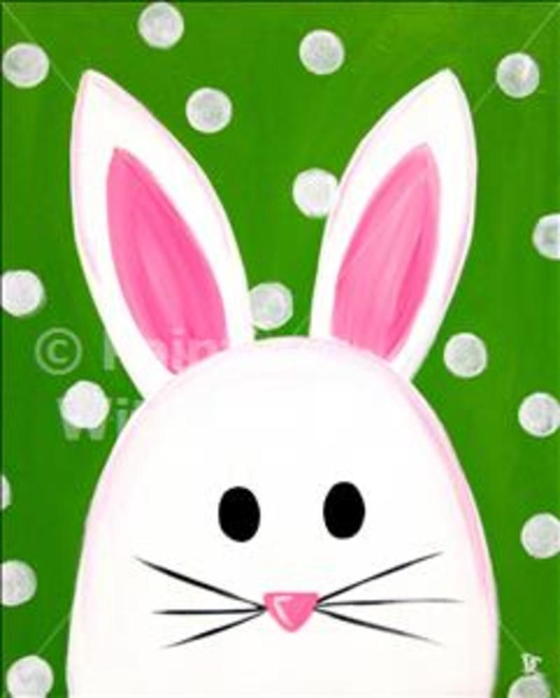 Painting of Bunny Bunny Art Easter Bunny Painting Original Easter Paint Decoration Small Painting Canvas Rabbit Gift Rabbit Portrait