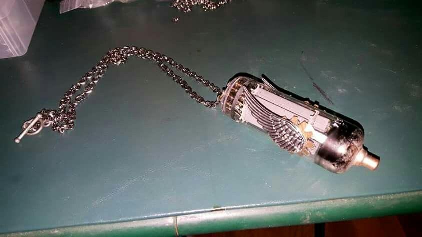 Vacuum Tube Airship necklace