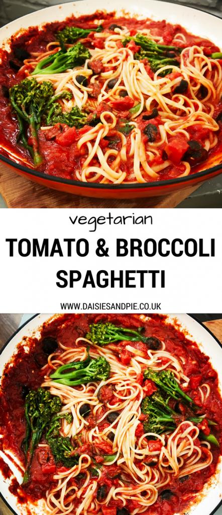 Easy Vegan Pasta Recipe Tomato And Broccoli Spaghetti Tasty Super Simple To Cook And Ready In Broccoli Spaghetti Vegan Pasta Recipes Cooked Pasta Recipes