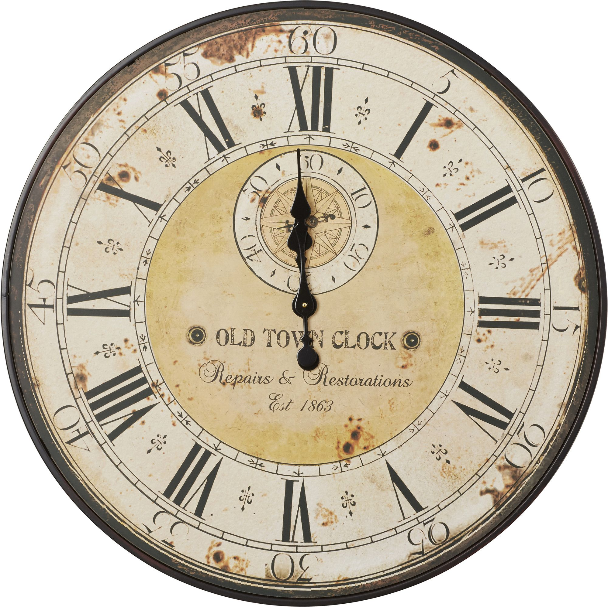Antique Wall Clock | Products | Pinterest | Antique wall clocks ...