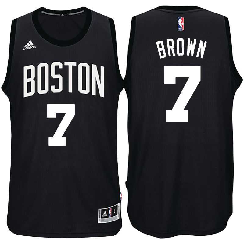 Boston Celtics  7 Jaylen Brown Black Fashion New Swingman Jersey ... 0d5fedaeb