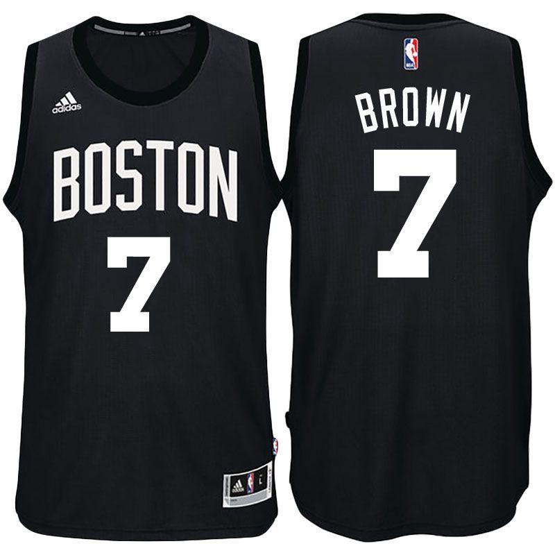 Boston Celtics  7 Jaylen Brown Black Fashion New Swingman Jersey ... d747bb58b