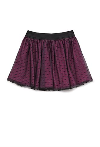 Swiss Dot Lace Skirt (Kids) | FOREVER21 girls - 2000128788