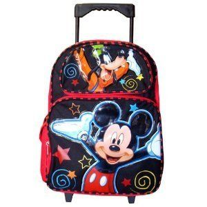 89e15ffeb69 Mickey Mouse   Goofy 16 Large Rolling Backpack by Disney.  33.99.  Reinforced seams   extra strong bottom. Comfort designed padded straps.