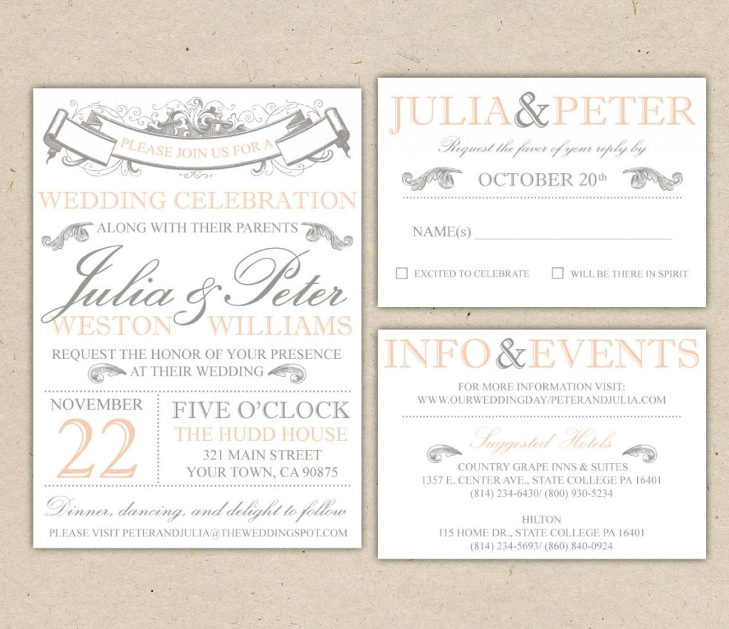 templates for wedding invitations free to download - beach wedding invitation templates for microsoft word