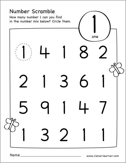 Free Printable Scramble Number Activity With Images Numbers
