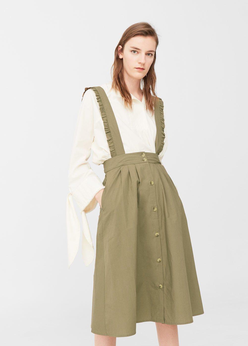 58e63bd2a Jardineiras algodão - Mulher em 2019   style   Vestidos de mulher ...