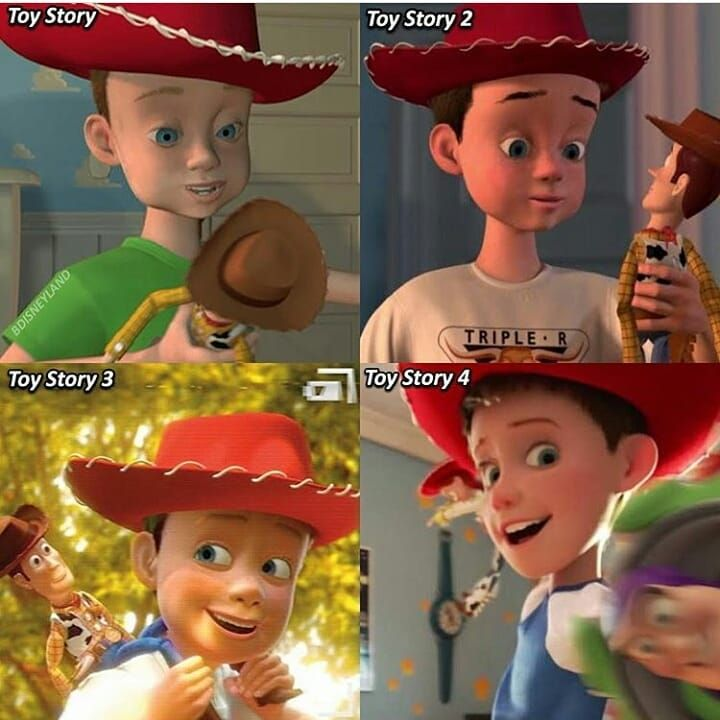 Geek Disney On Instagram Andy Had A Big Evolution Omg Did You Like This New Andy From Toy Story 4 Leav Toy Story Meme Disney Memes Toy Story Movie