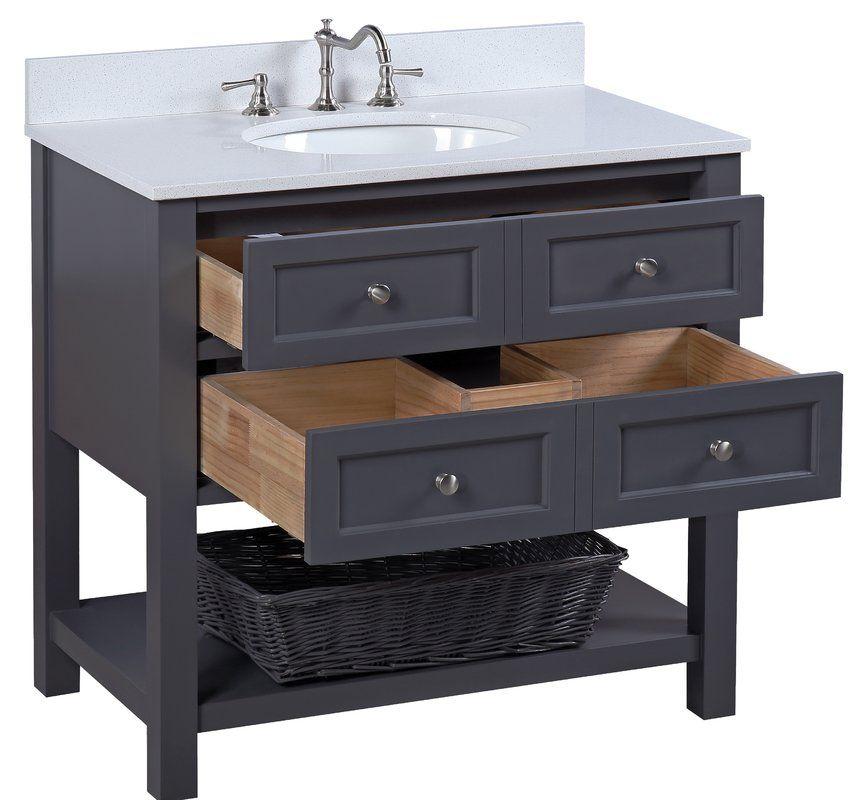 New Yorker 36 Single Bathroom Vanity Set Reviews Joss Main Small Bathroom Vanities Bathroom Vanity Makeover Bathroom Vanity Storage