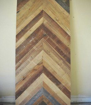 Chevron Pattern Door Reclaimed Wood Wood Sofa Dining