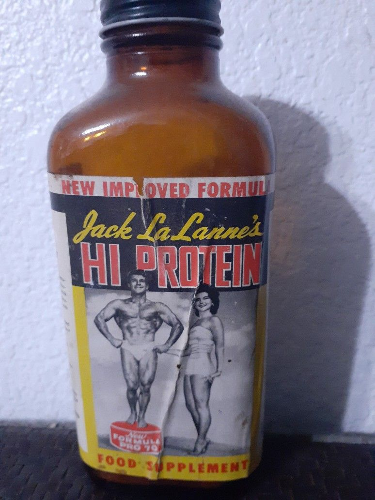 Jack LaLanne's Hi Protein Food Supplement   Honest tea bottle, Tea bottle,  Whiskey bottle
