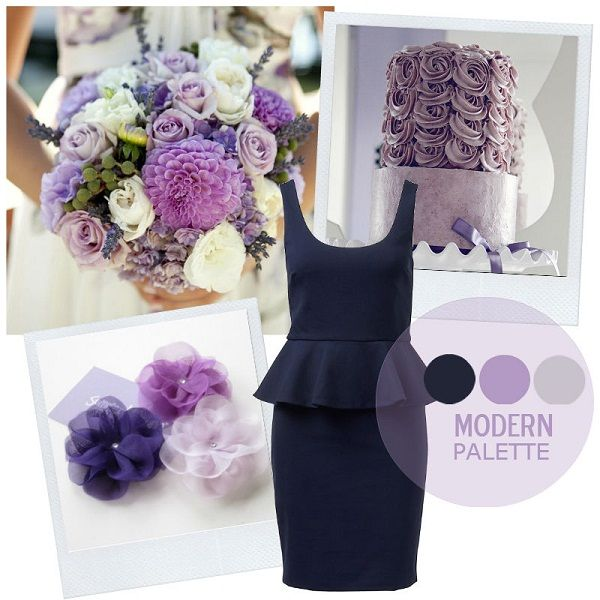Samantha Smith Palette Navy Lilac Light Grey