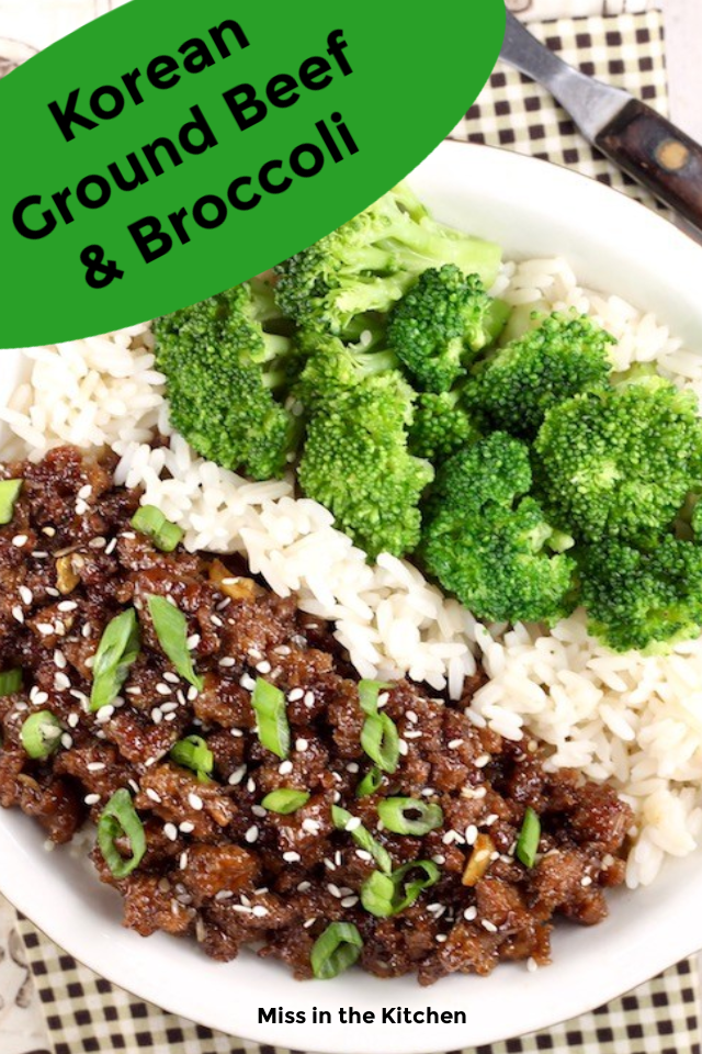Korean Ground Beef Broccoli In 2020 Ground Beef And Broccoli Broccoli Beef Ground Beef Recipes For Dinner