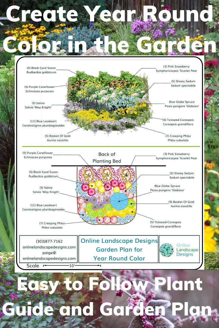 Year Round Color Garden Plan Plant Guide And Garden Design By Online Landscape Designs Online Landscape Design Garden Design Plans Year Round Colors