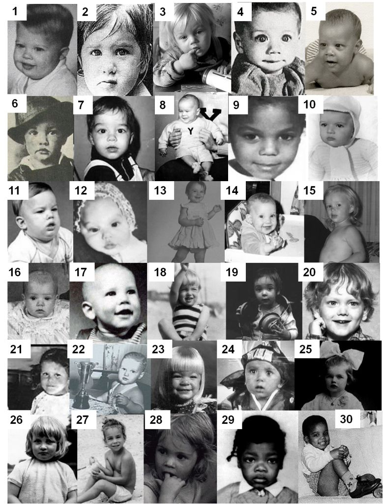 Another Board Of Baby Celeb Pics With No Names Pretty Easy To Guess Tho Celebrity Baby Pictures Celebrity Babies Baby Photos