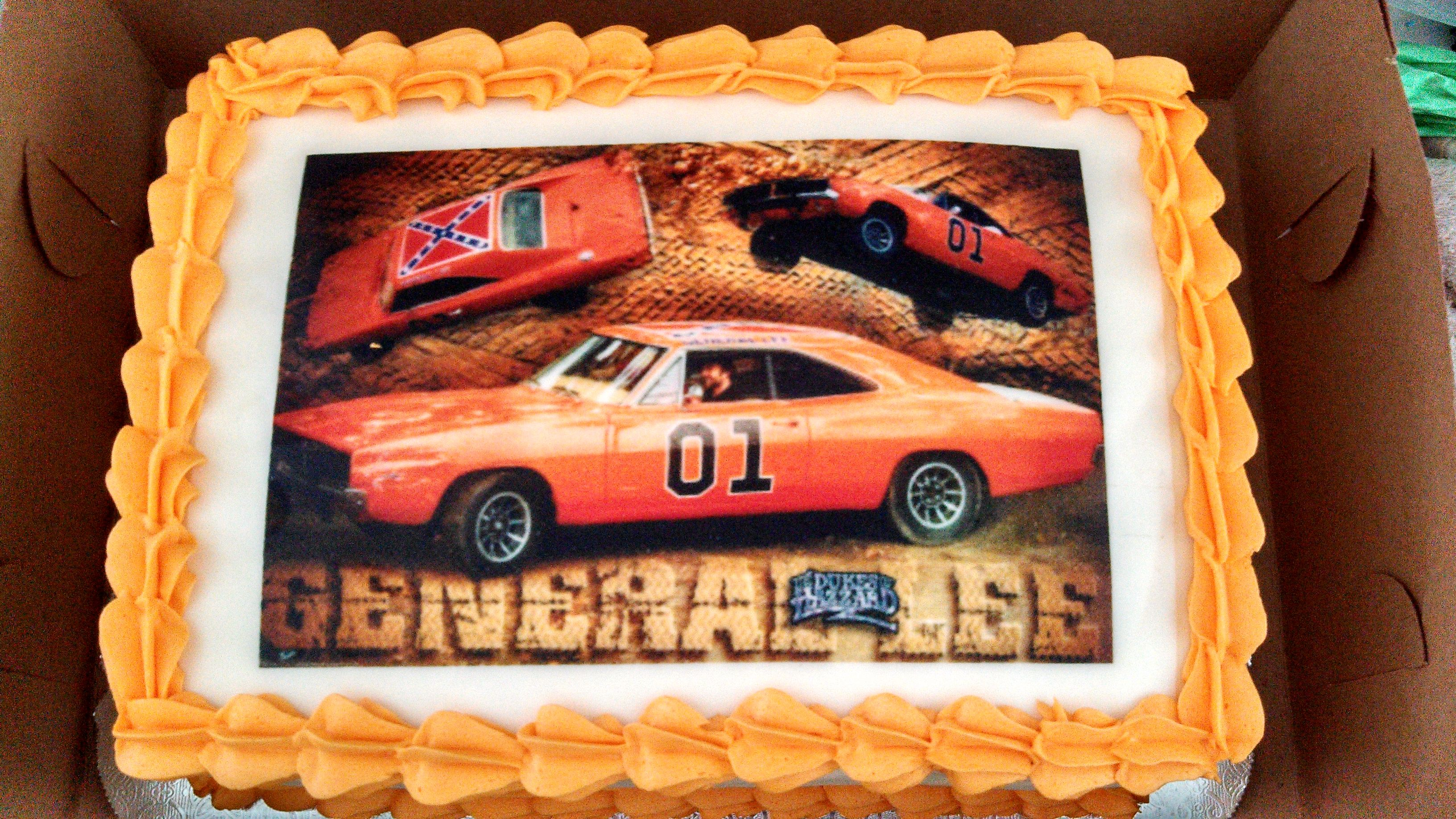 Dukes Of Hazzard Cake With Images 3rd Birthday Cakes Birthday