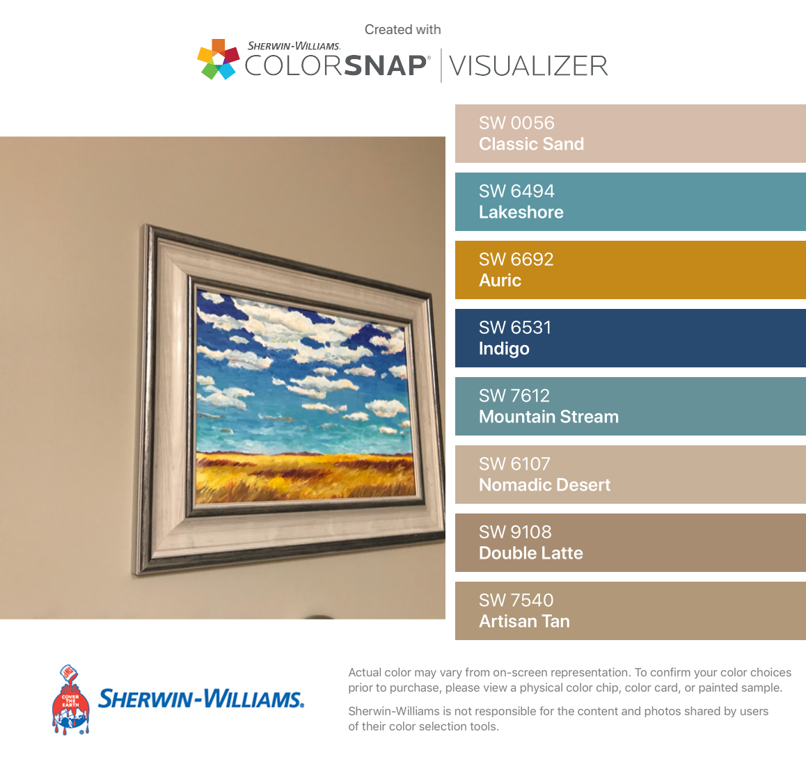 I Found These Colors With Colorsnap Visualizer For Iphone By Sherwin Williams Classic Sand Sw 0056 Lakeshore Sw 6494 Color House Colors Sherwin Williams